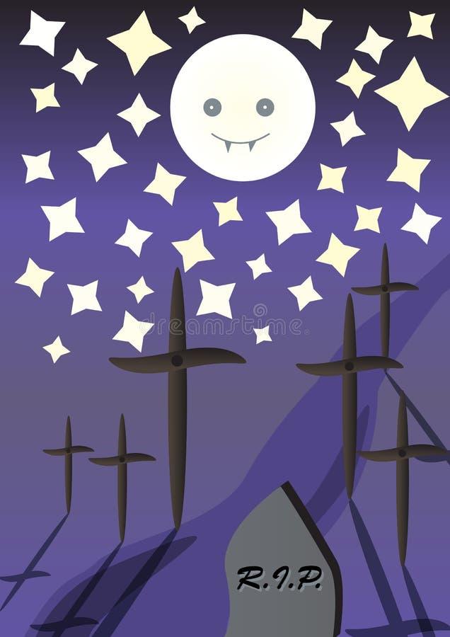 Trajeto do cemitério ilustração stock