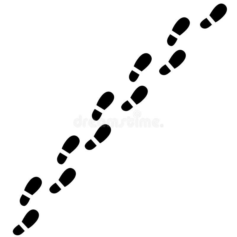 Trajeto dos passos ilustração do vetor
