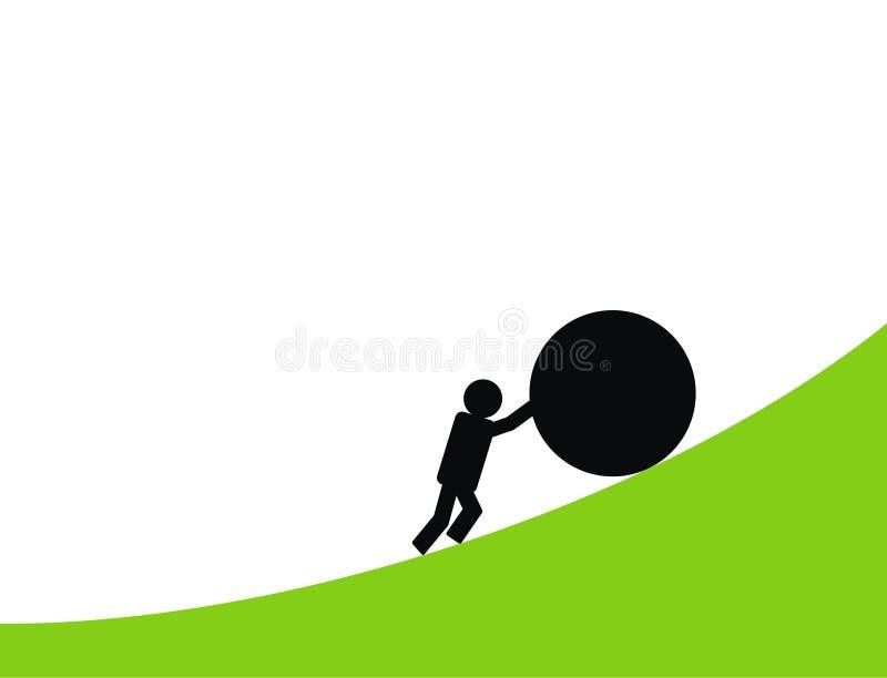 Trajeto duro ao sucesso ilustração do vetor
