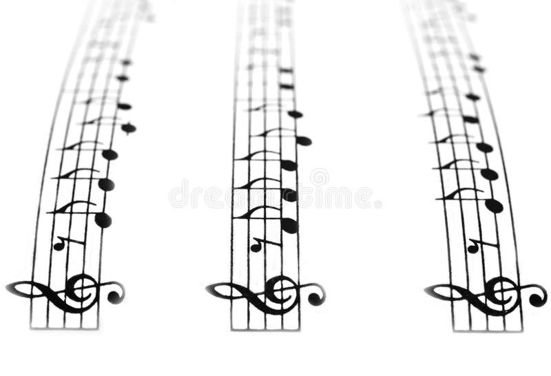 Trajeto musical imagem de stock royalty free