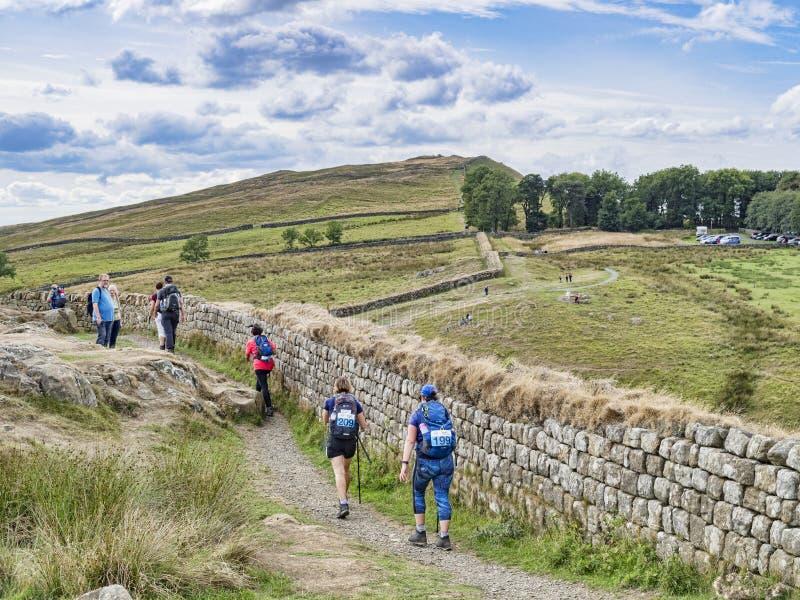 Trajeto Northumberland Reino Unido da parede de Hadrian imagens de stock royalty free