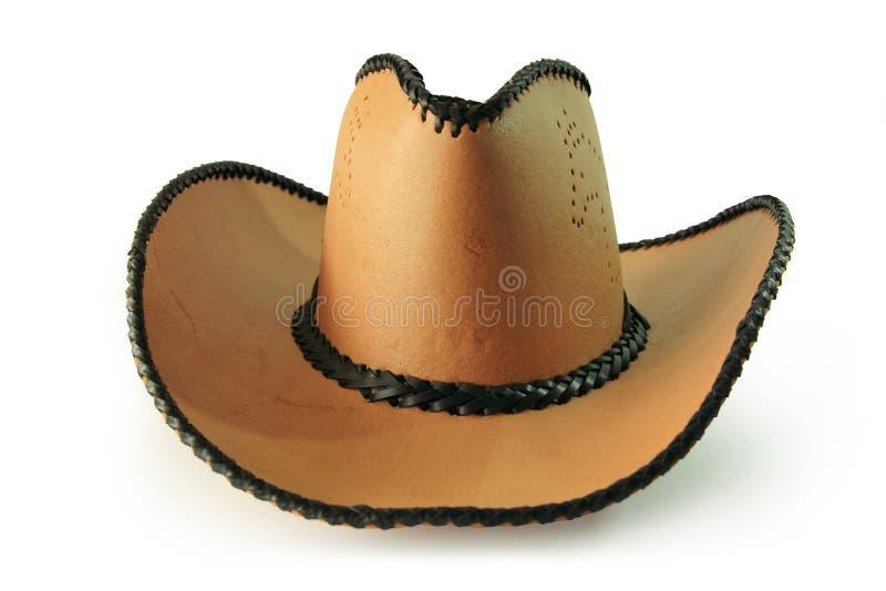 Trajetos de grampeamento, chapéu de vaqueiro isolado no fundo branco fotografia de stock royalty free