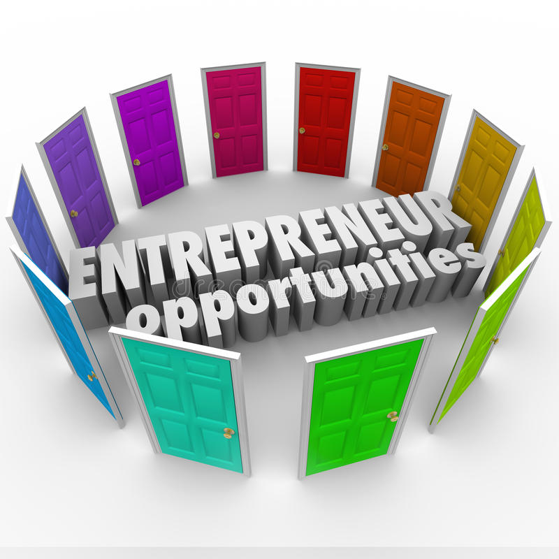 Trajetos de Opportunities Many Business do empresário ilustração royalty free