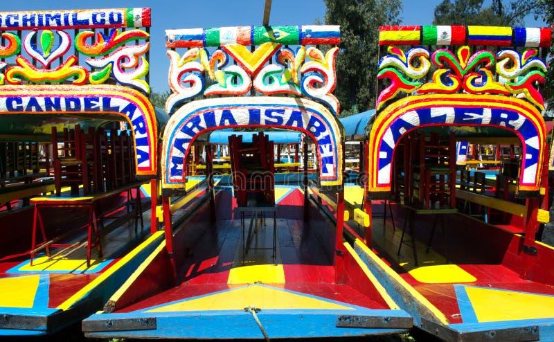 Trajineras de Xochimilco image stock
