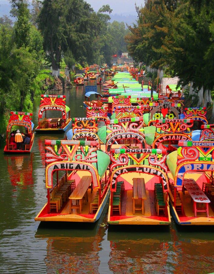 Download Trajineras en xochimilco stock photo. Image of competition - 2783804