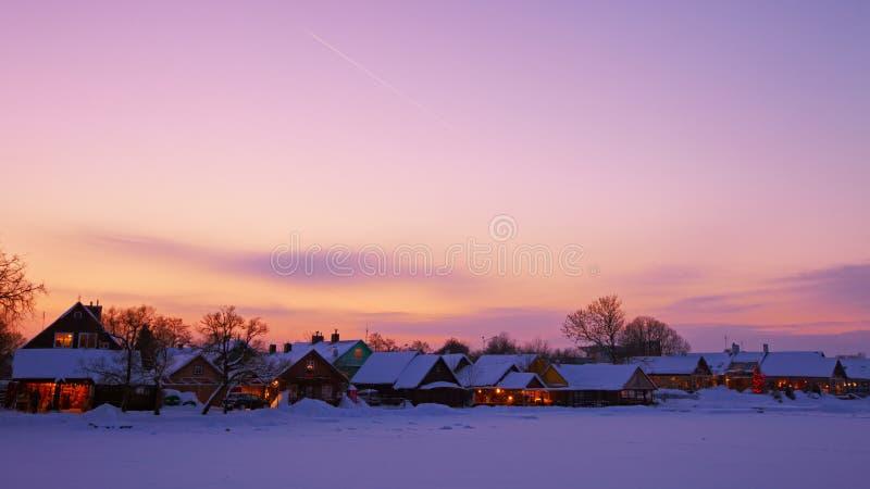trakai захода солнца стоковое фото rf