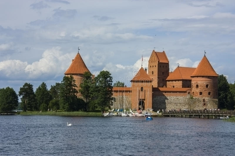 Trakai Castle. Is the largest of the preserved castles in Lithuania. It locates in the ancient residence of the Lithuanian Princes — in Trakai royalty free stock image