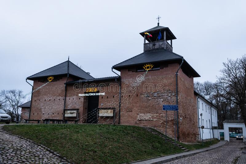 Trakai Castle Museum, Lithuania. Trakai Castle Museum, historical site near the island that host the Castle, Lithuania stock photo