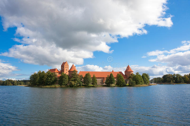 Trakai Island Castle. In Trakai, Lithuania on an island of Lake Galve, 14th century royalty free stock images
