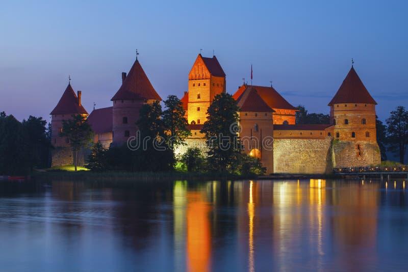 Trakai island Castle. In Lithuania, Eastern Europe royalty free stock photos