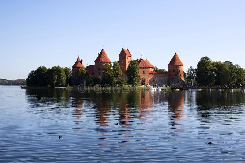 Trakai Island Castle in Lithuania. In Europe royalty free stock image