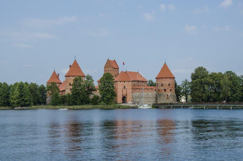 Trakai Island Castle nära Vilnus, Litauen royaltyfri fotografi