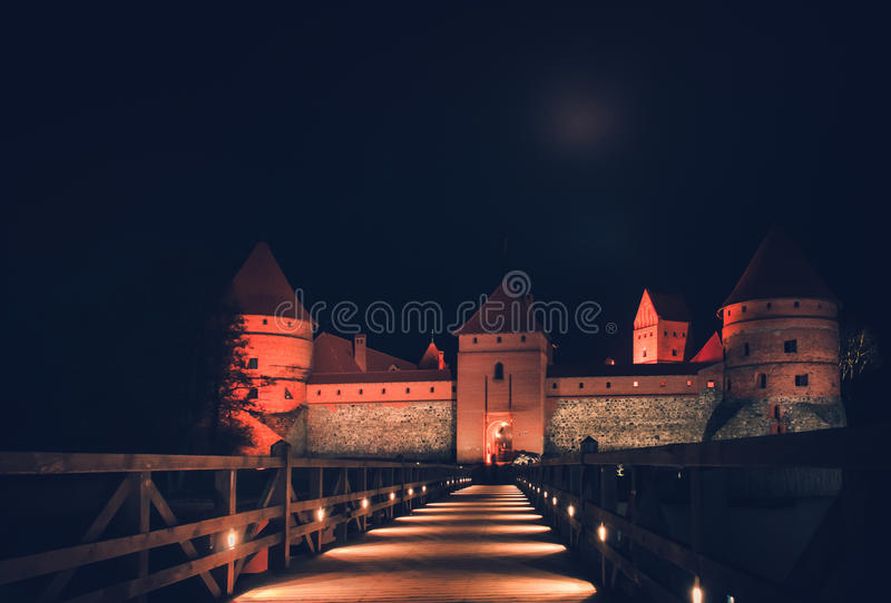 Trakai kasztel fotografia royalty free