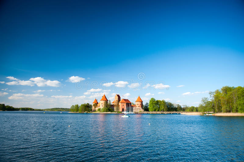Trakai kasztel - wyspa kasztel fotografia royalty free