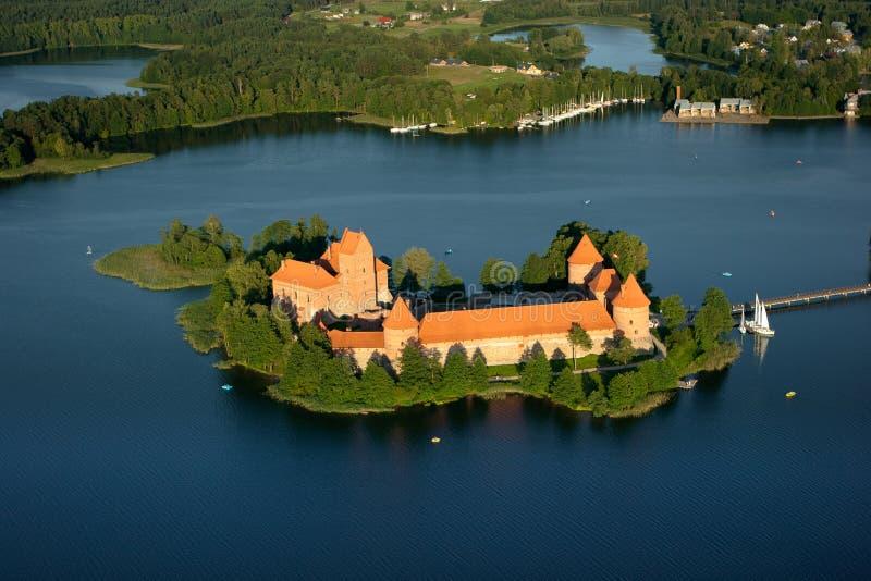 Trakai slott i Litauen royaltyfri fotografi