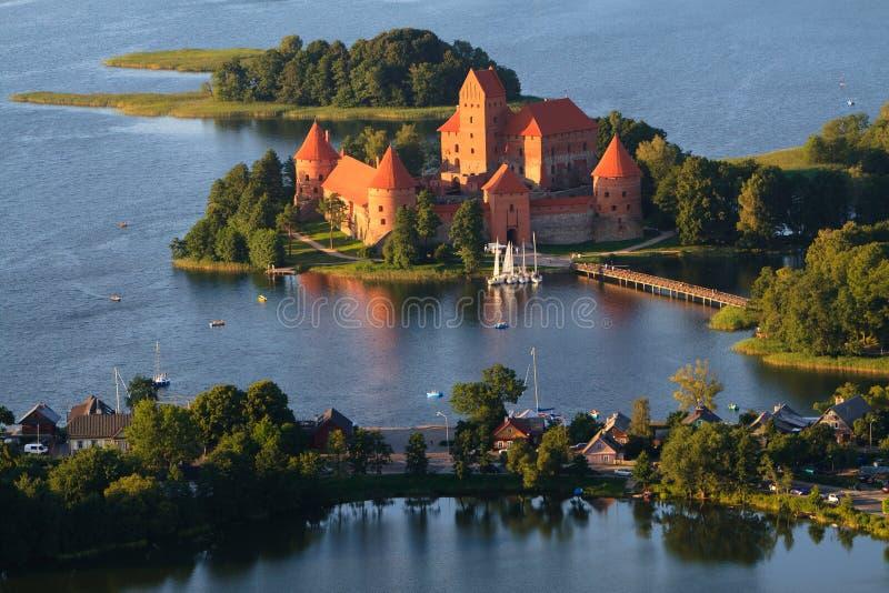 Trakai slott i Litauen royaltyfria foton