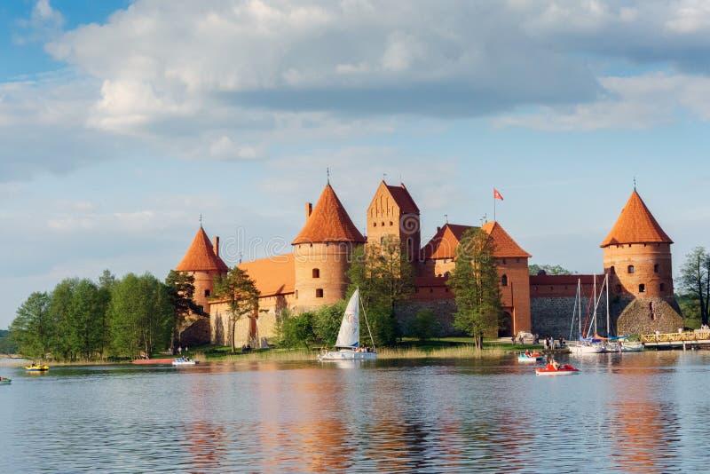 Trakai Wyspy Kasztel zdjęcie royalty free