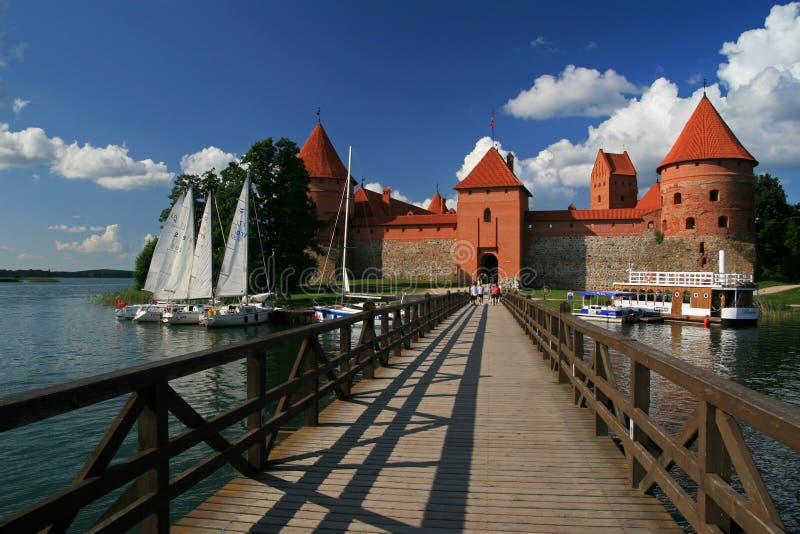 Trakai Wyspy Kasztel fotografia stock