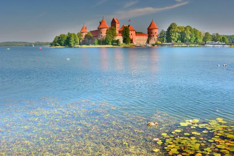 Trakai Wyspy Kasztel Trakai Lithuania obrazy stock
