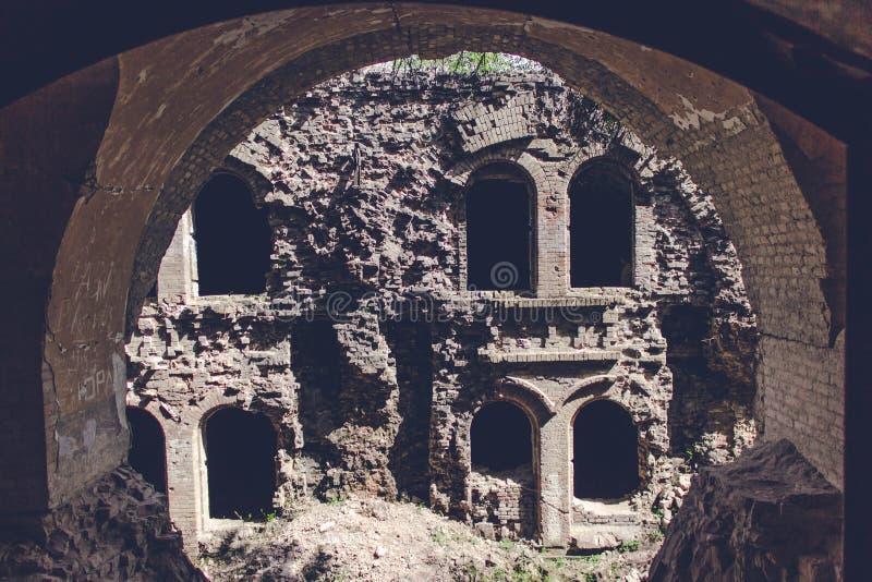 Trakanov fort, Rivne region, Ukraina arkivbilder