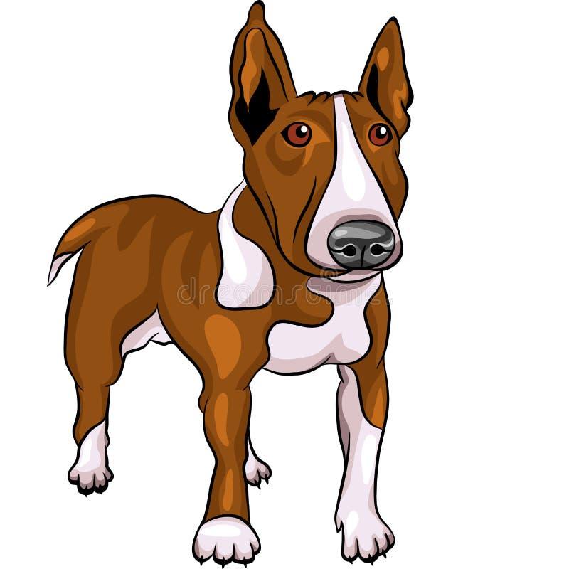 trakenu byka kreskówki psa teriera wektor ilustracja wektor