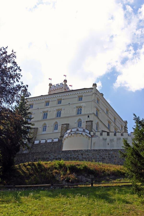 Trakoscan, castello in Croazia immagine stock libera da diritti