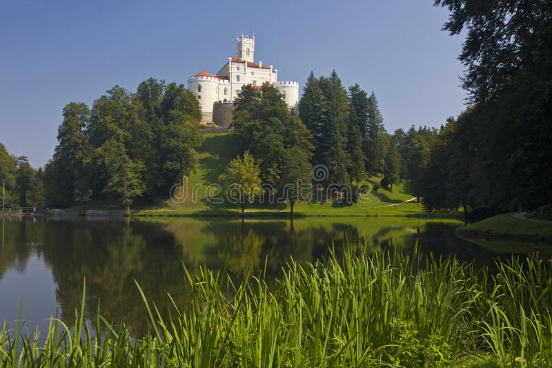 Trakoscan castle. Placed in the far north of the Croatian Highlands region stock photography