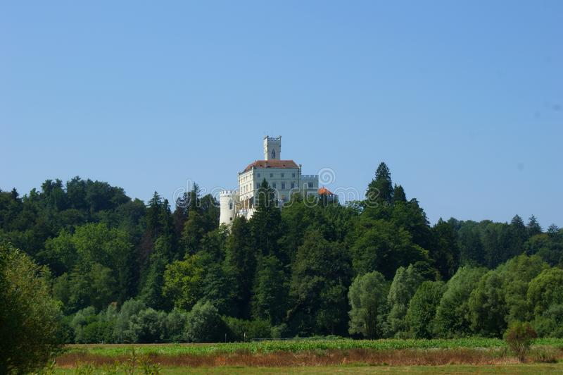 Trakoscan Castle. Old castle in north Croatia royalty free stock photography