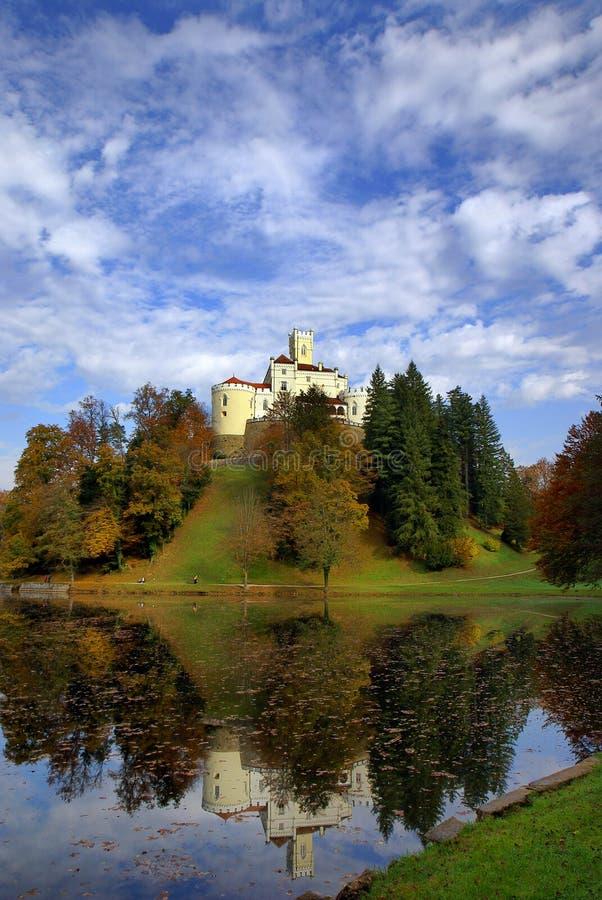 Trakoscan Castle. Located near Varaždin,Croatia stock photo