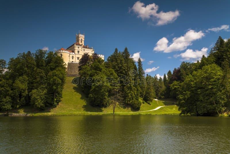 Trakoscan castle in Croatia. Trakoscan castle on a sunny summer day royalty free stock photo