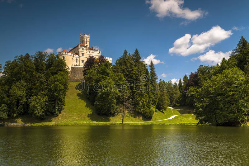 Trakoscan castle in Croatia. Trakoscan castle on a sunny summer day royalty free stock photography
