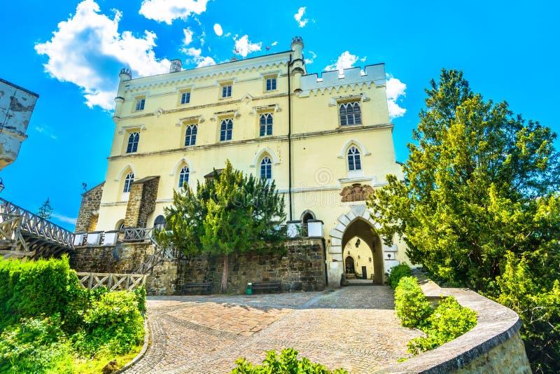 Trakoscan castle in Croatia, Zagorje. Scenic view famous building in Zagorje region, Trakoscan castle in Croatia royalty free stock photography