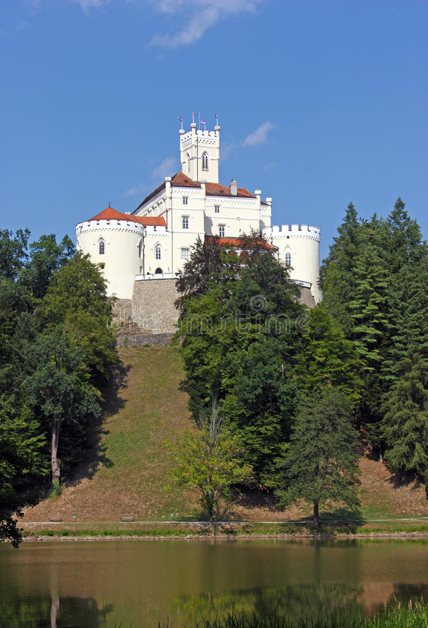 Trakoscan, castle. And museum in northwest Croatia, dating from the 13th century stock photography