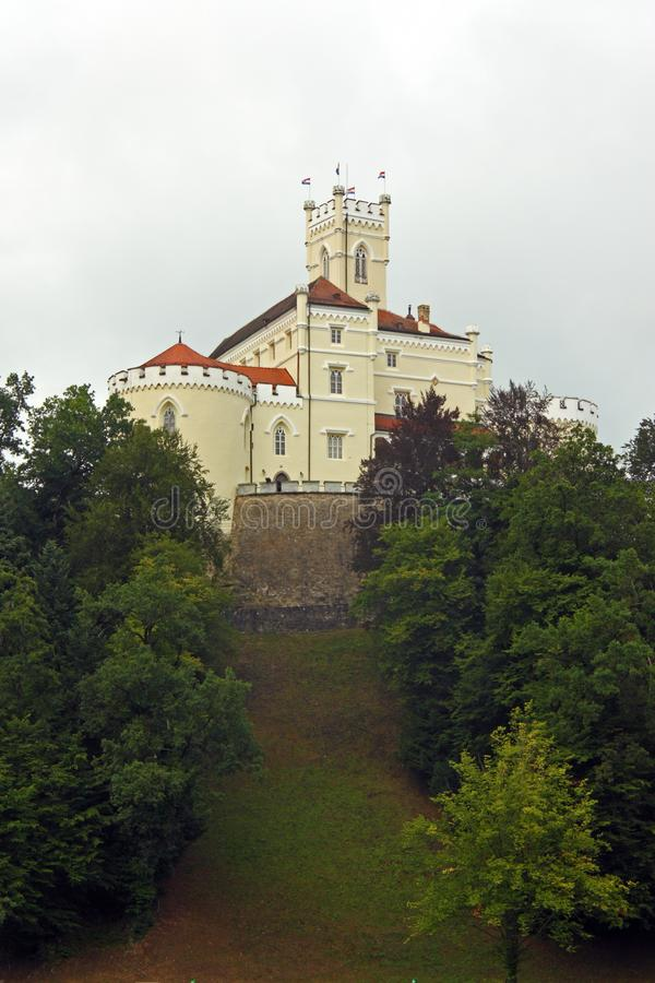 Trakoscan, castle in Croatia. Trakoscan, castle and museum in northwest Croatia, dating from the 13th century royalty free stock photos
