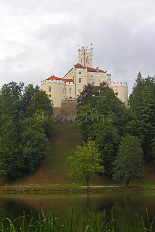 Trakoscan, castle in Croatia. Trakoscan, castle and museum in northwest Croatia, dating from the 13th century stock photography