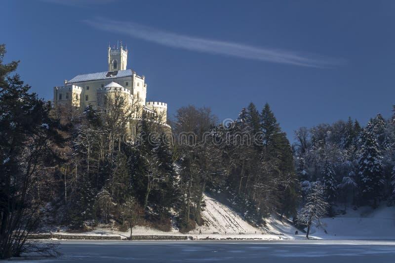 Trakoscan castle in winter. Croatia royalty free stock images