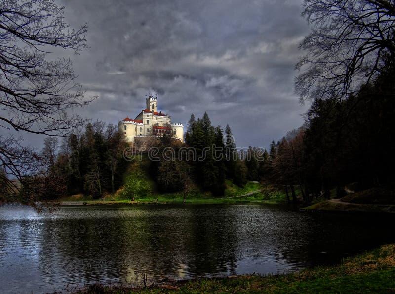 Trakoscan magii kasztel zdjęcia royalty free