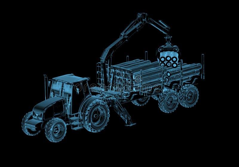 Traktor stock abbildung