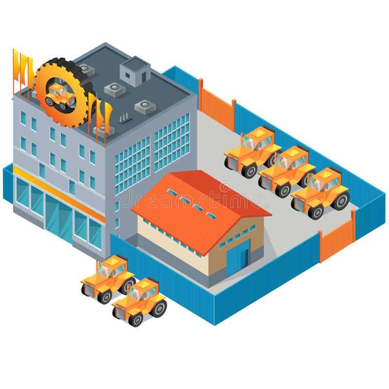 Traktor-Anlage lizenzfreie stockfotografie