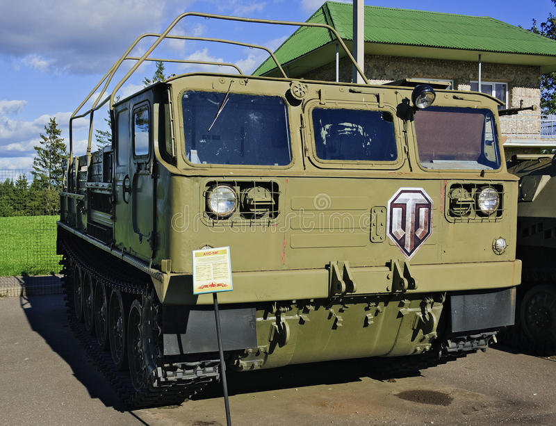 Traktor ATS-59G der mittleren Artillerie. lizenzfreie stockfotos
