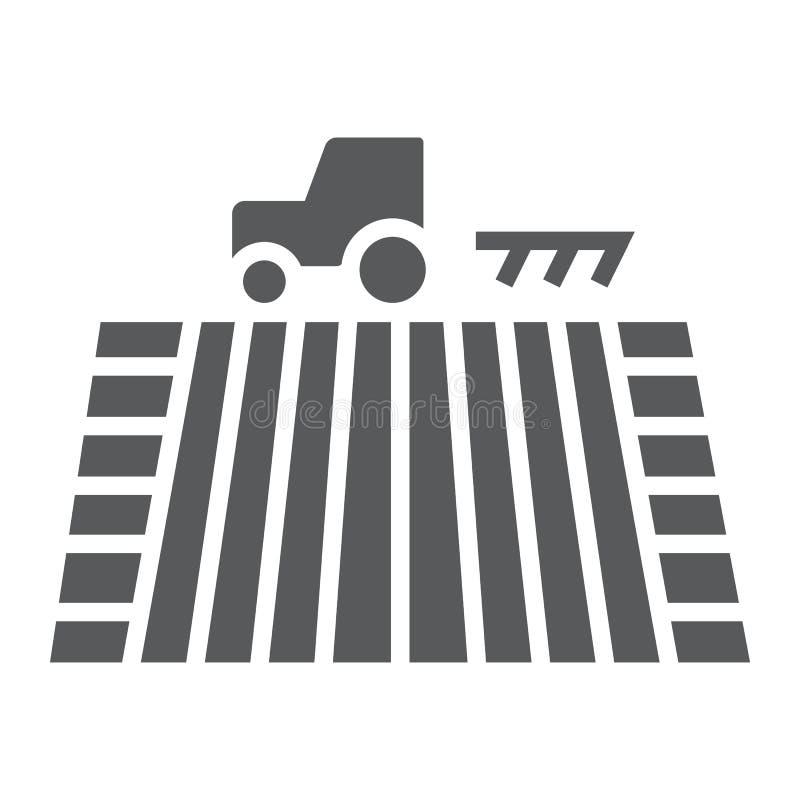 Traktor auf der Feld Glyphikone, bewirtschaftend vektor abbildung