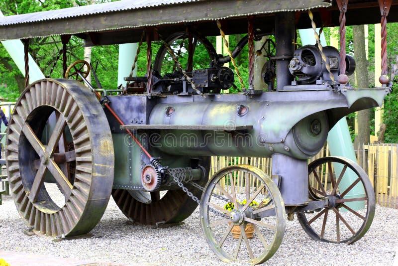 Traktor an der Dampf-Maschinen-und Handwerks-Show lizenzfreie stockbilder