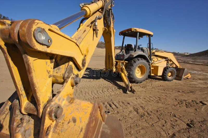 Traktor an einer Cunstruction Site stockfoto