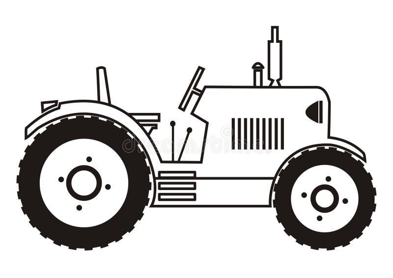 Traktor - färgläggning stock illustrationer