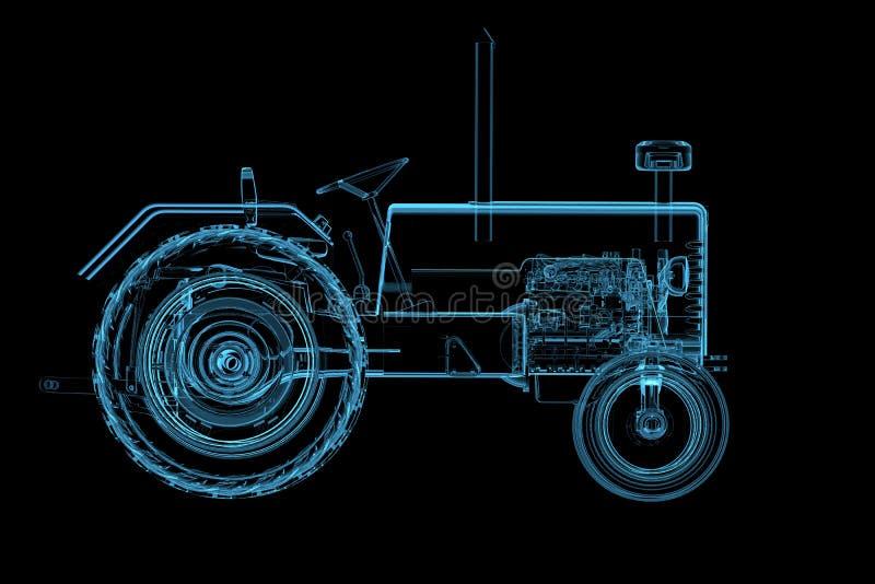 Traktor getrennt auf Schwarzem lizenzfreie abbildung