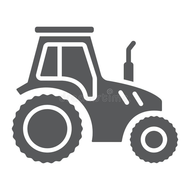 Traktor Glyphikone, -landwirtschaft und -landwirtschaft lizenzfreie abbildung
