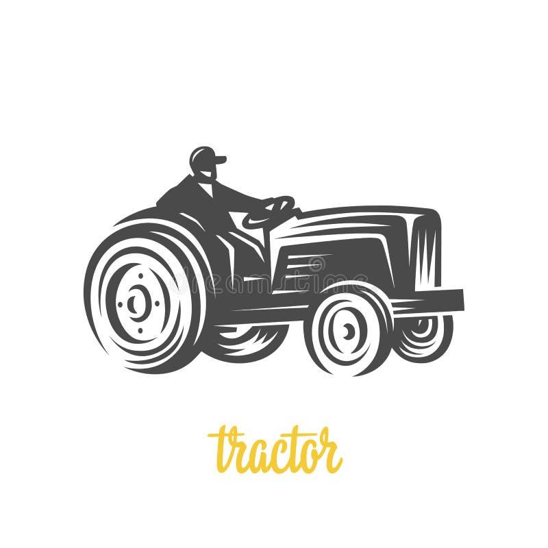 traktor Junger Mann läuft in Stadt vektor abbildung