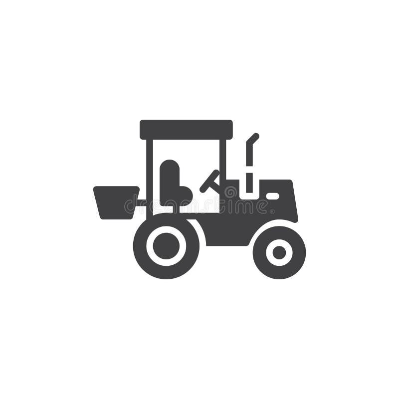 Traktor-LKW-Vektorikone vektor abbildung