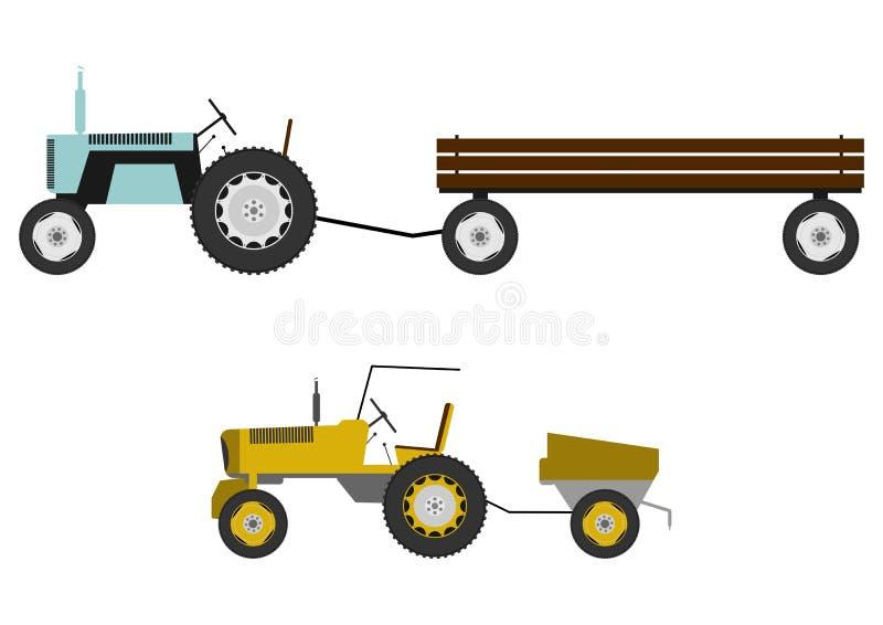 Traktor mit Anhänger vektor abbildung