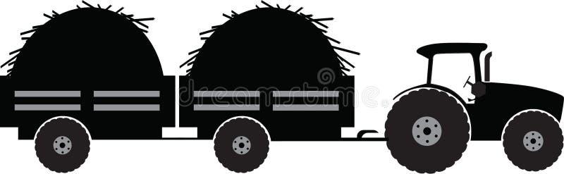 Traktor mit Anhänger zwei lizenzfreie abbildung